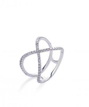 "Ring ""Lazoor"" golden, with diamond stones №15"