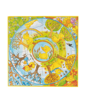 """Toy """"Goki Toys"""" puzzle A duck's year"""