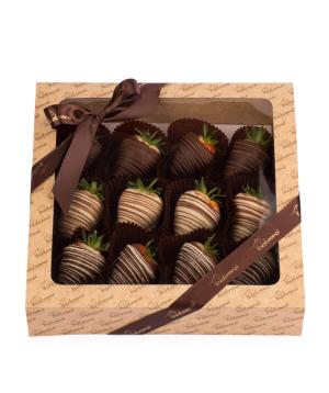 """Strawberry """"Theobroma"""" in chocolate handmade"""