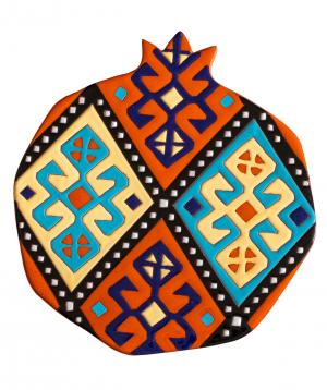 "Cheese plate ""ManeTiles"" decorative, ceramic №11"