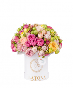 Composition `Fortuna` with peony roses