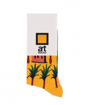 "Socks  ""Art socks"" with ""Palma"" painting"