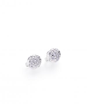 "Earrings ""Lazoor"" golden, with diamond stones №3"
