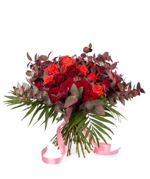 Ծաղկեփունջ «Վիլվորդե» վարդերով