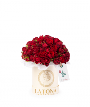 Կոմպոզիցիա «Էուդորա» փնջային վարդերով