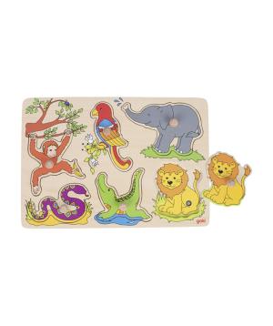 Խաղալիք «Goki Toys» փազլ կենդանաբանական այգի