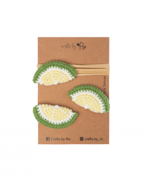 """Set """"Crafts by Ro"""" hairpins lime №1"""