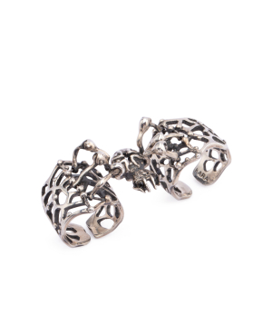 """Ring """"Kara Silver"""" Spider for 2 fingers"""