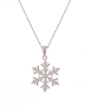Necklace `Silverist` snowflake №2