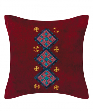 """Pillow """"Miskaryan heritage"""" embroidered with Armenian ornament №39"""