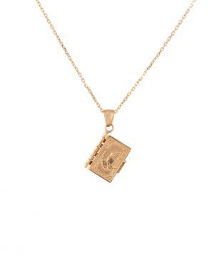 """Pendant """"Less is more"""" gold a prayer book №3"""