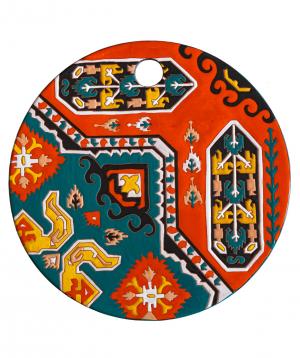 "Cheese plate ""ManeTiles"" decorative, ceramic №8"