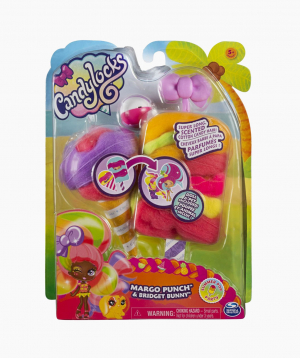 Spin Master Doll and Pet with Accessories Candylocks Margo Punch & Bridget Bunny