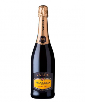 Sparkling wine `Valdo Prosecco DOC Extra Dry` white, dry 750ml