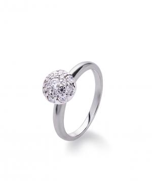 "Ring ""Lazoor"" golden, with diamond stones №6"