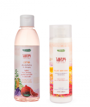 Collection `Nuard` shampoo and  balm conditioner