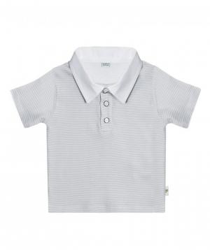Polo  `Lalunz` white-gray