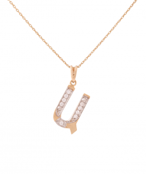 """Pendant """"Less is more"""" gold №19"""