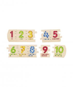 """Toy """"Goki Toys"""" number puzzle 1-10"""