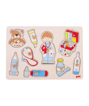 Խաղալիք «Goki Toys» փազլ Բժշկի մոտ