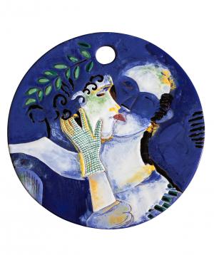 "Cheese plate ""ManeTiles"" decorative, ceramic №36"