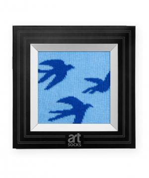"Socks  ""Art socks"" with ""Swallows"" painting"