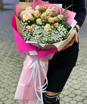 "Bouquet ""Kananga"" with roses"